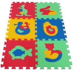 Mata / puzzle piankowe MAXI zwierzęta I