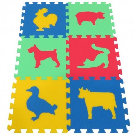 Mata / puzzle piankowe MAXI zwierzęta III