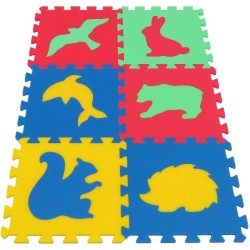 Mata / puzzle piankowe MAXI zwierzęta IV