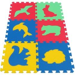 Penový koberec MAXI 6 zvieratá IV