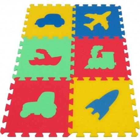 Bodenmatte Puzzlematte MAXI Verkehrsmittel
