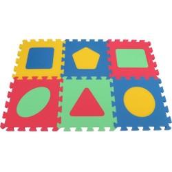Puzzlematte Spielteppich MAXI Geo dick