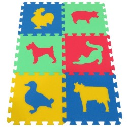 Foam mat MAXI Animals III strong