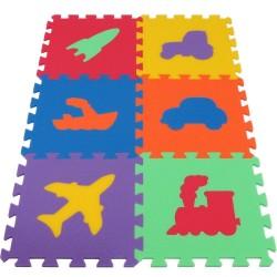 Puzzle Tapis de Jeu MAXI 6 Transports fort