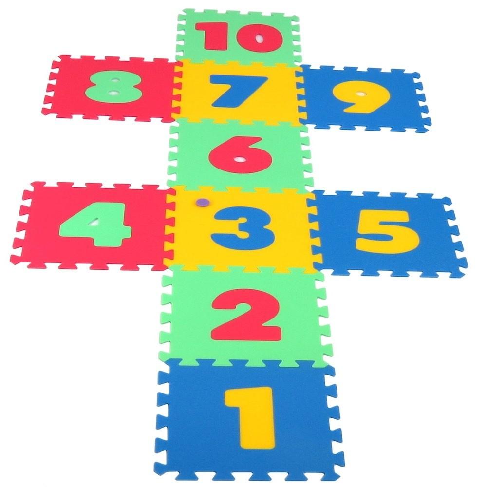 puzzle tapis de jeu maxi chiffres. Black Bedroom Furniture Sets. Home Design Ideas
