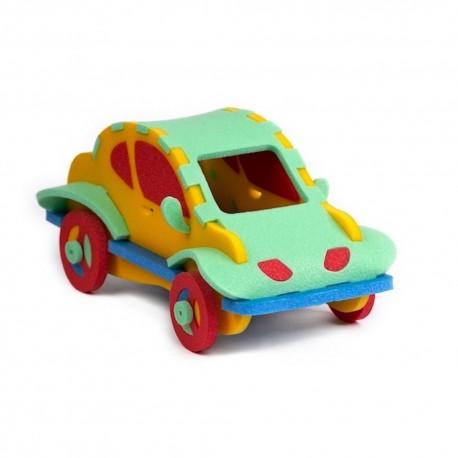 Samochodziki puzzle piankowe 3D