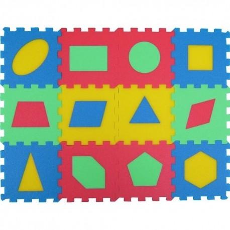 Puzzlematte mit geometrische Figuren