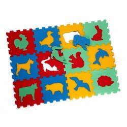 Puzzle piankowe / mata - 12 zwierząt