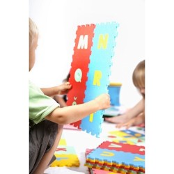 Puzzle piankowe / mata - 36 ramek z literami ABC