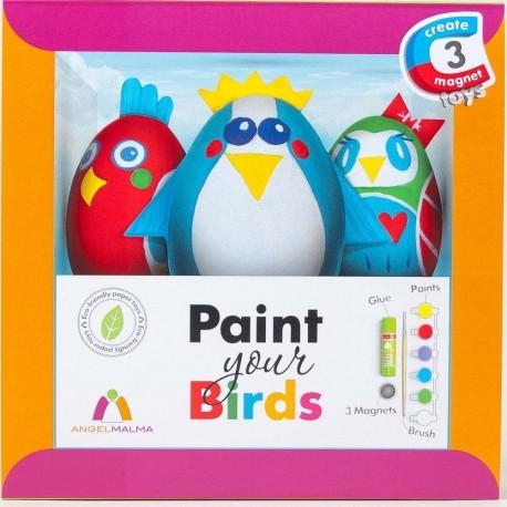 Kreativ-set Malen Sie Ihre Vögel!