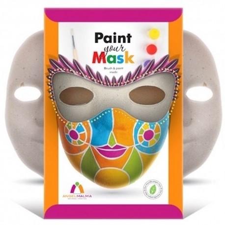 Maska do ozdabiania- zestaw z farbami