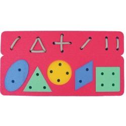 Geometrisches Fädelspiel
