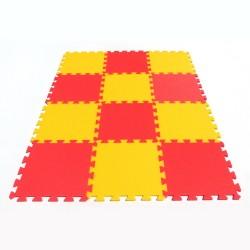 Tappeto puzzle MAXI 12, 16 mm giallo-rosso