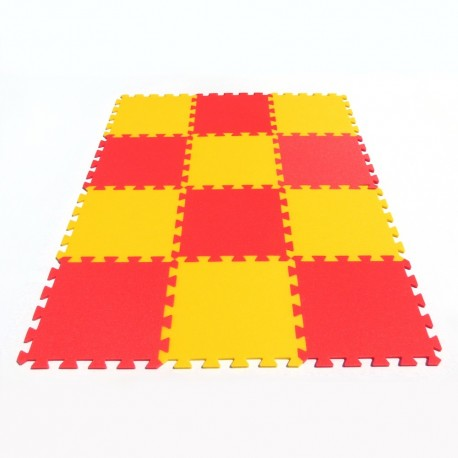 Foam mat MAXI 12 - strong yellow-red