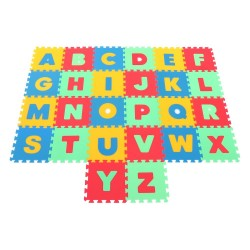 Foam mat MAXI Latin letters, strong