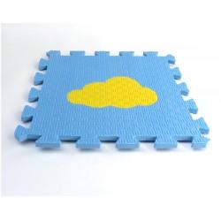Bodenmatte Puzzlematte MAXI EVA Wölkchen