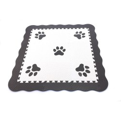 Foam puzzle MAXI EVA 9 Dog foot with frame